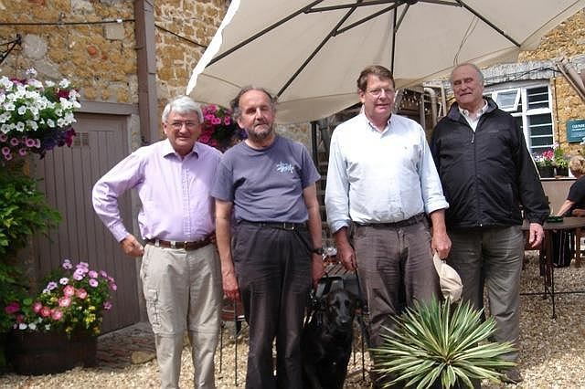 Edward Lutley, Peter Liesching, Peter Isaac and Clive Lewis-Hopkins 2011