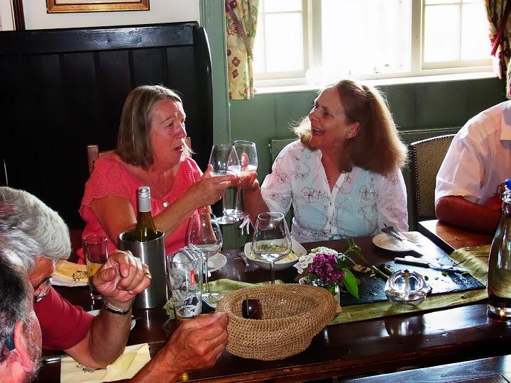 Diana Lutley enjoys a joke with Mo Cotes-James