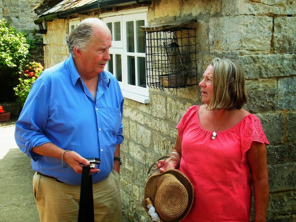 Nicholas Collis with Diana Lutley