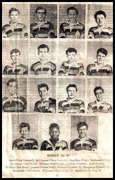 Chilton Cantelo School Rugby 1st XV Circa 1963