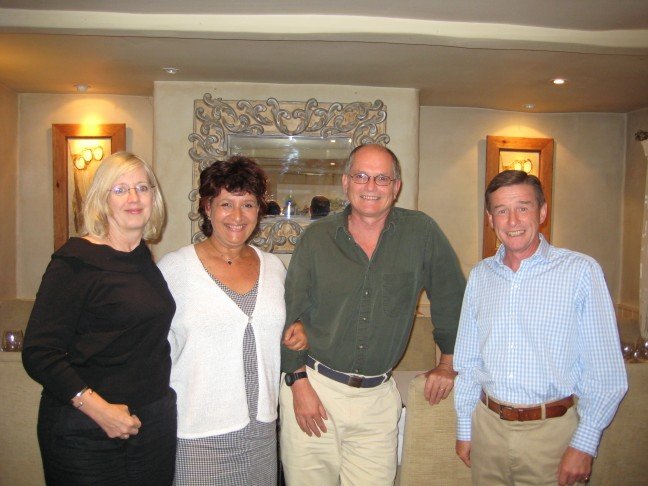 2005 – from left Loraine Frost, me, Nick Barber and Jerry Croft