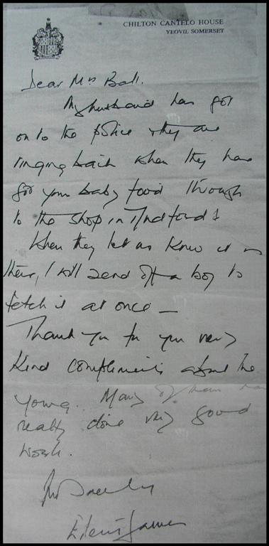Eileen Cotes-James letter