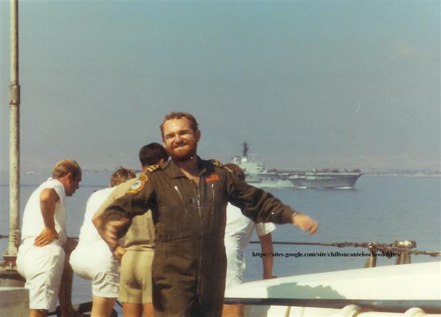 HMS Fearless off Cyprus 1971. Arthur Swain