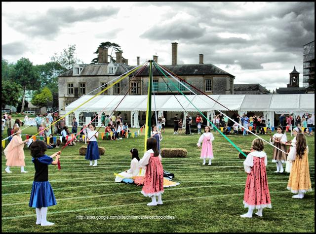 The start of the Maypole Dance – Chilton Cantelo School Summer Fete 2010
